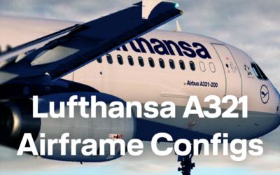 FSL A321 Airframe Configs